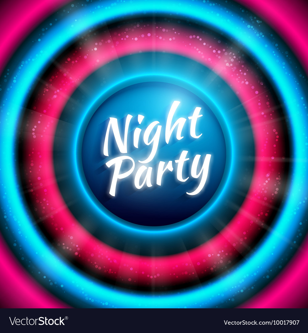 Premium banner template for club night party vector image