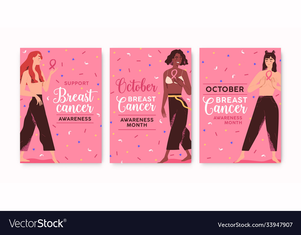 Set colorful posters template october month