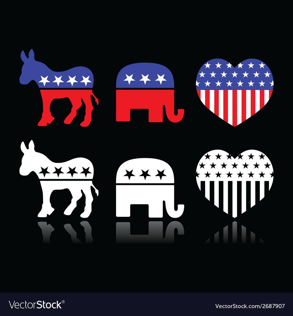 Usa political parties - democrats and republicans