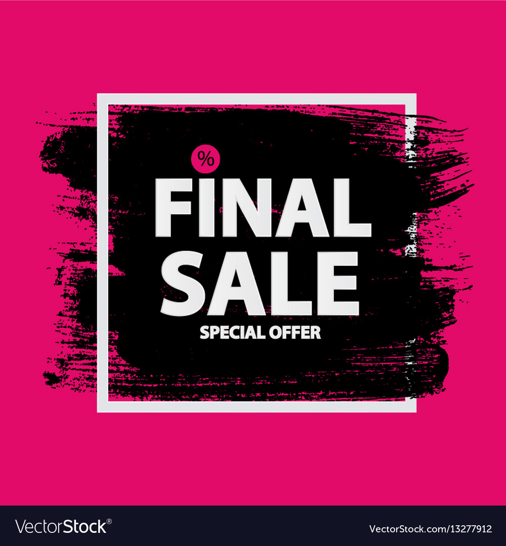 abstract brush stroke designs final sale banner in
