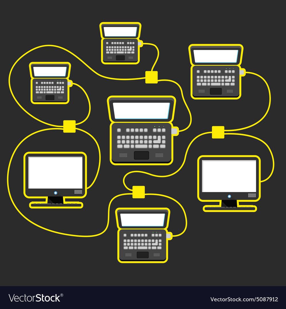 Abstract scheme of modern computer network