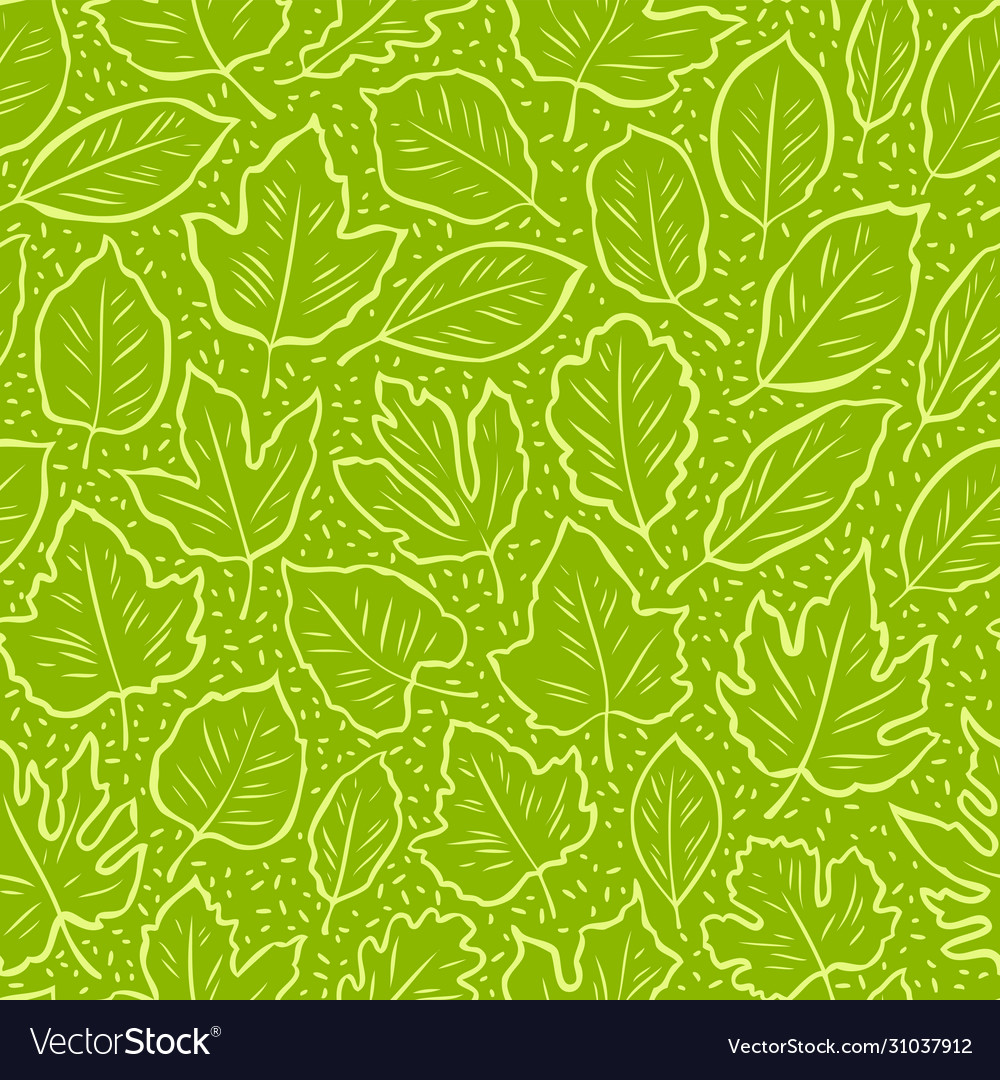 Abstract seamless pattern with leaves background