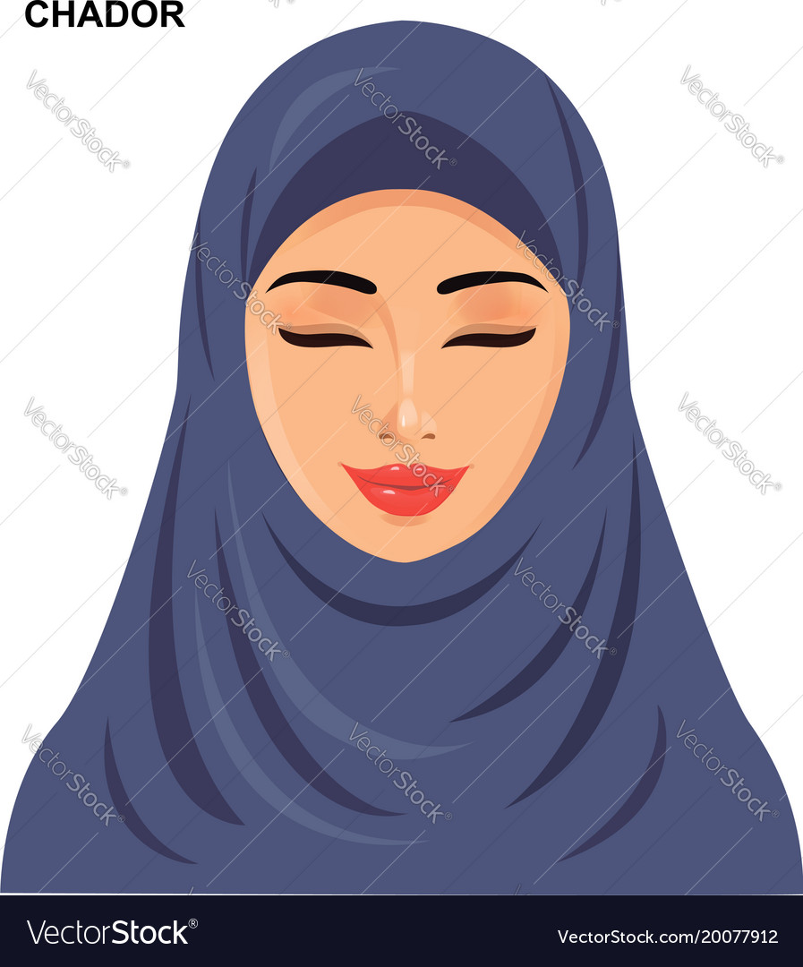Chador headgear arabic muslim woman