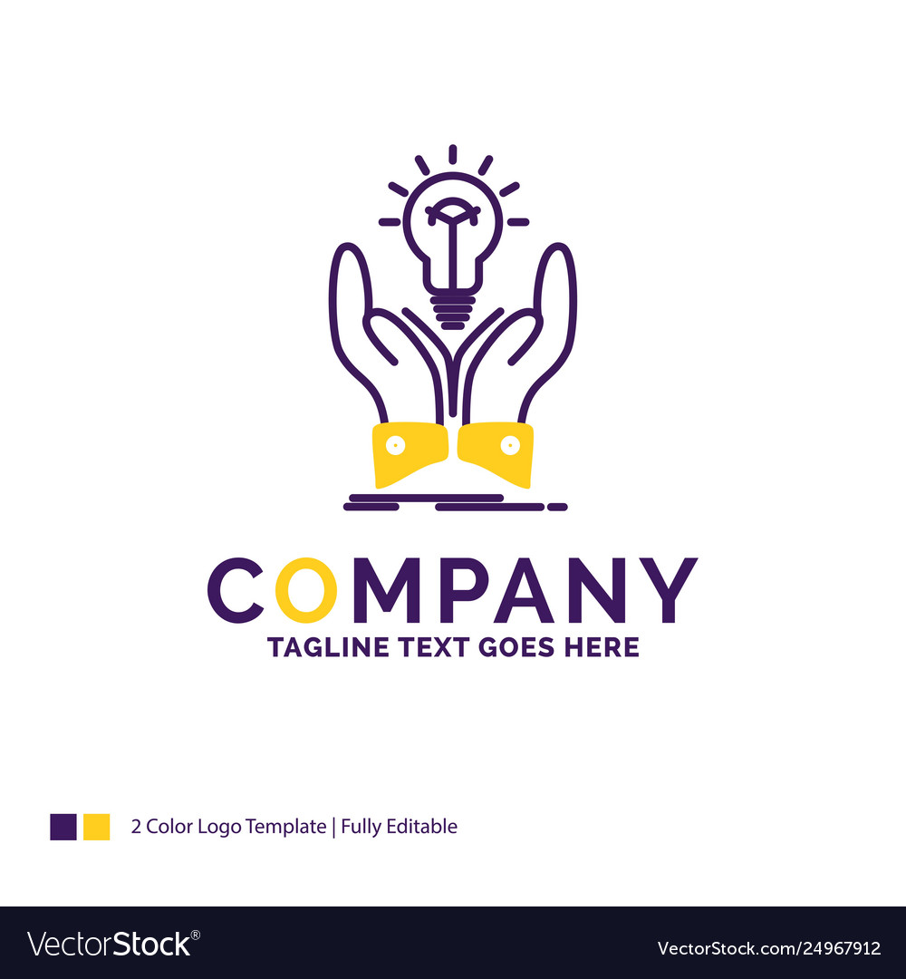Company name logo design for idea ideas creative