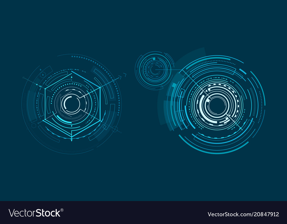 Two templates of bright interface geometric banner