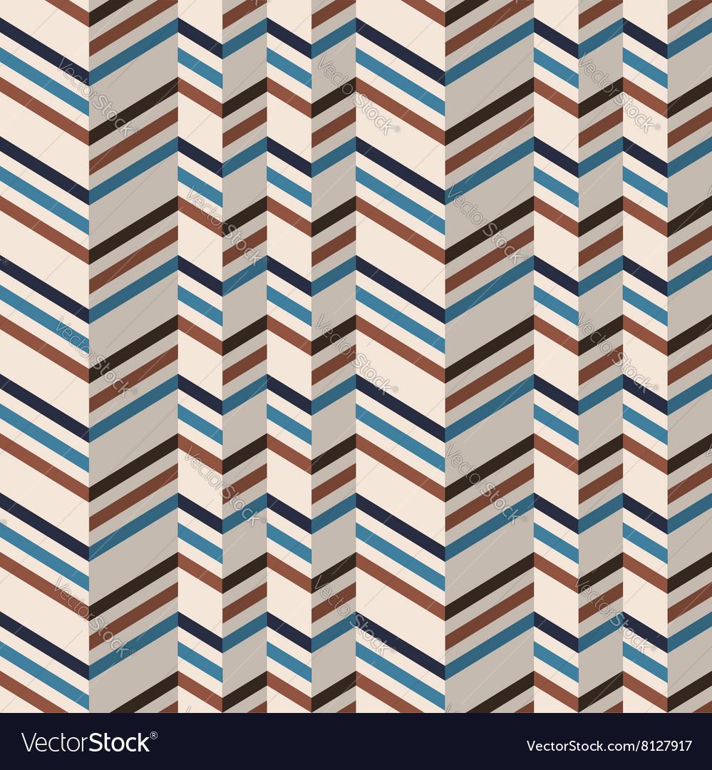 Fashion chevron pattern in brown retro colors