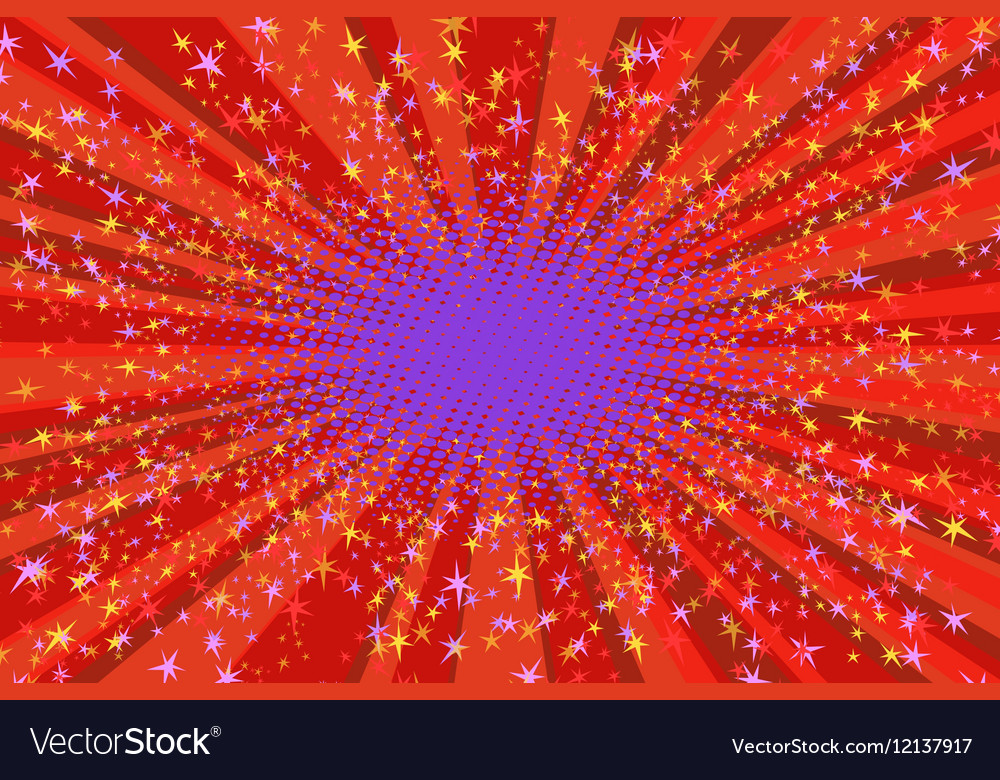 Festive background with bright sparks