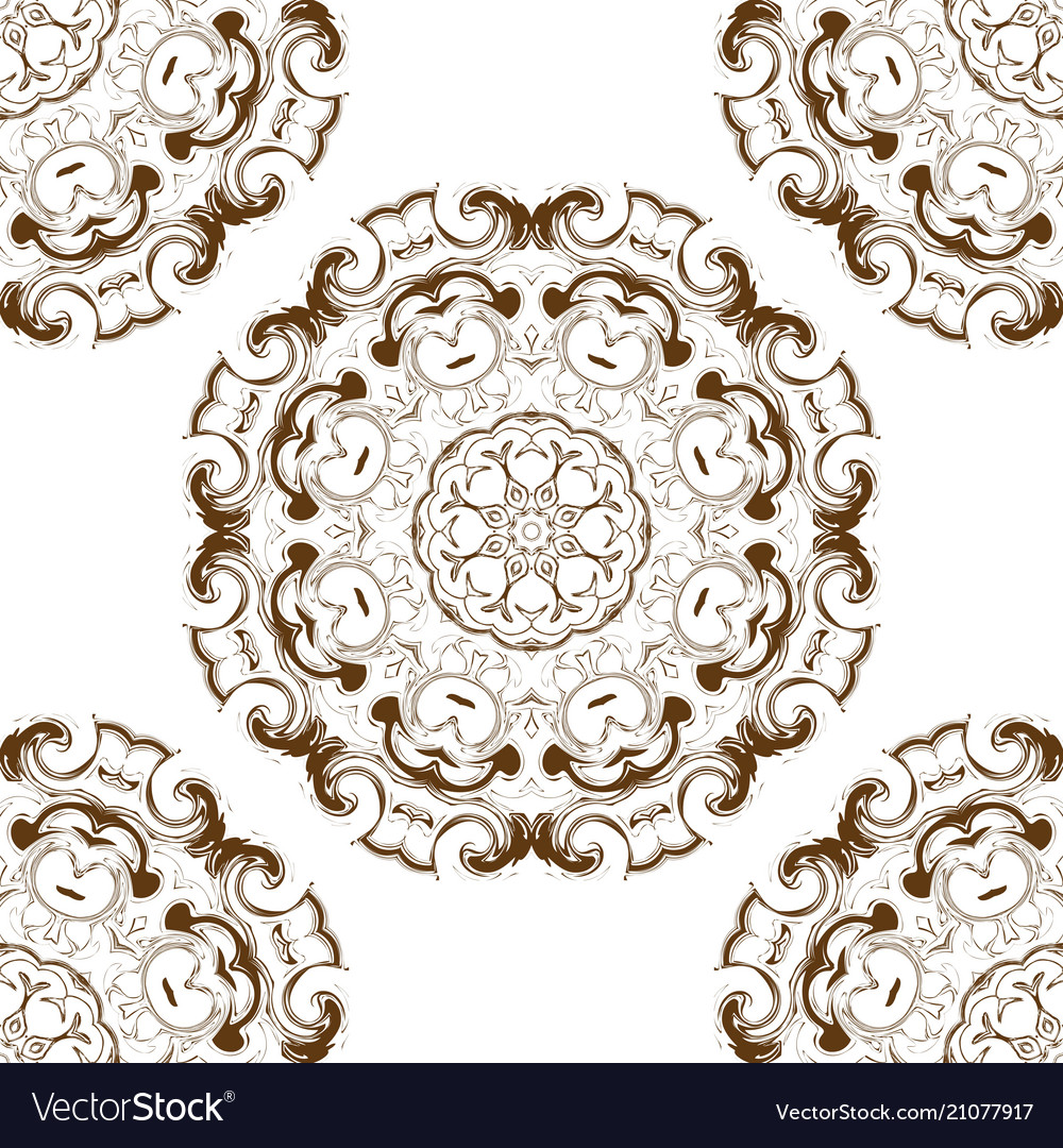 Seamless pattern circular stylish background vec vector image
