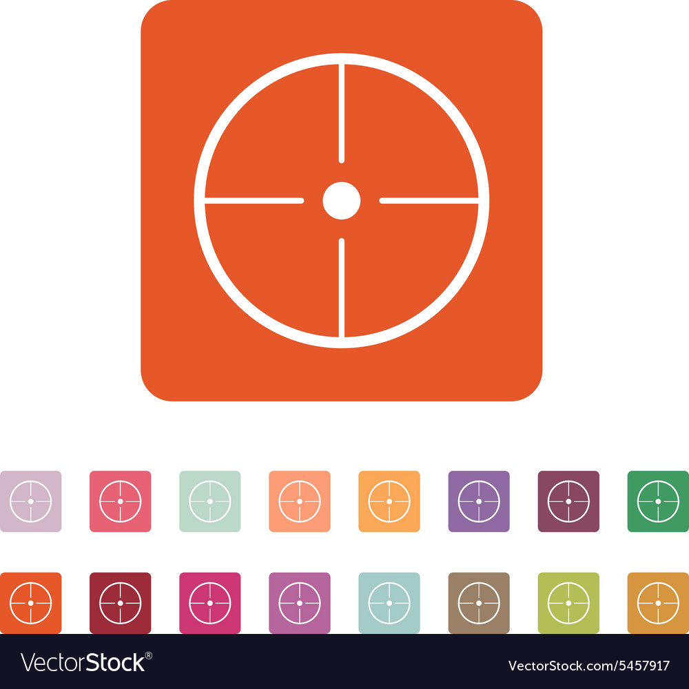 The crosshair icon Search symbol Flat