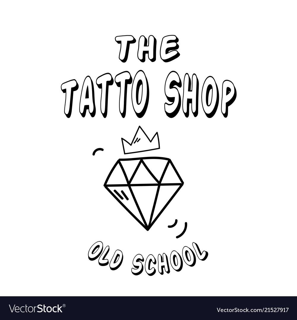The tattoo shop diamond crown background im