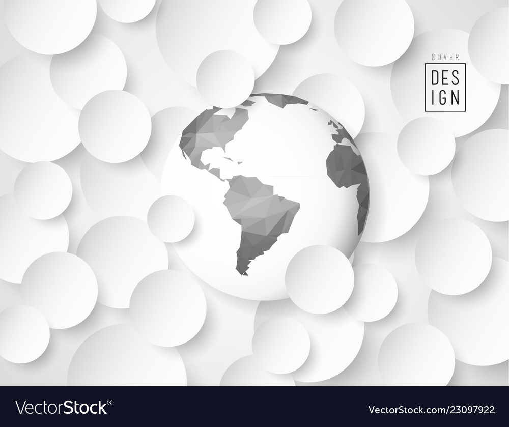 Abstract 3d circle background with low poly