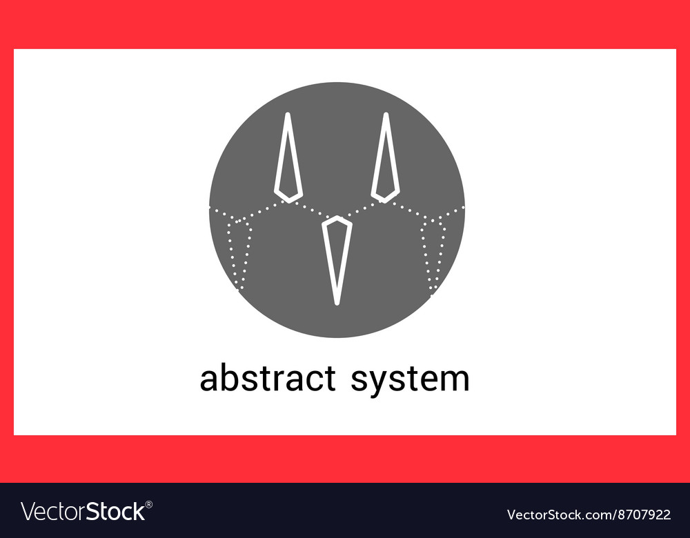 Abstract triangle logo contour outline