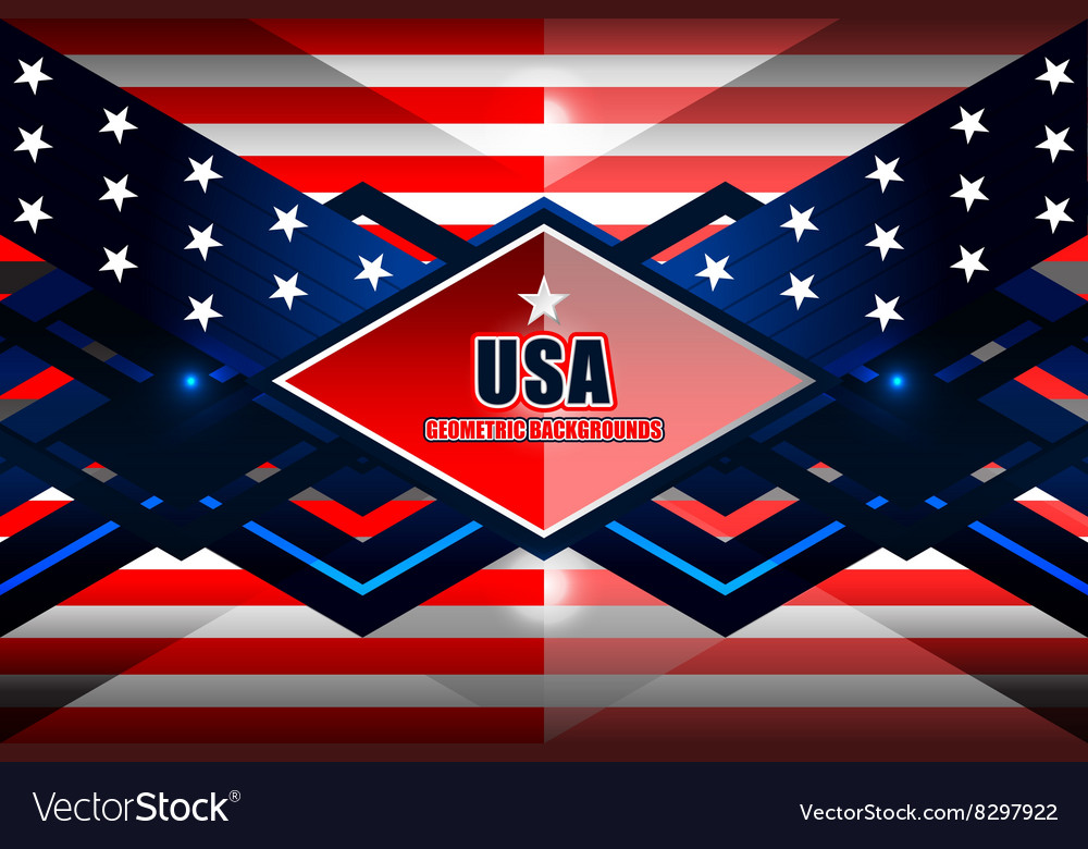 American geometric background vector image