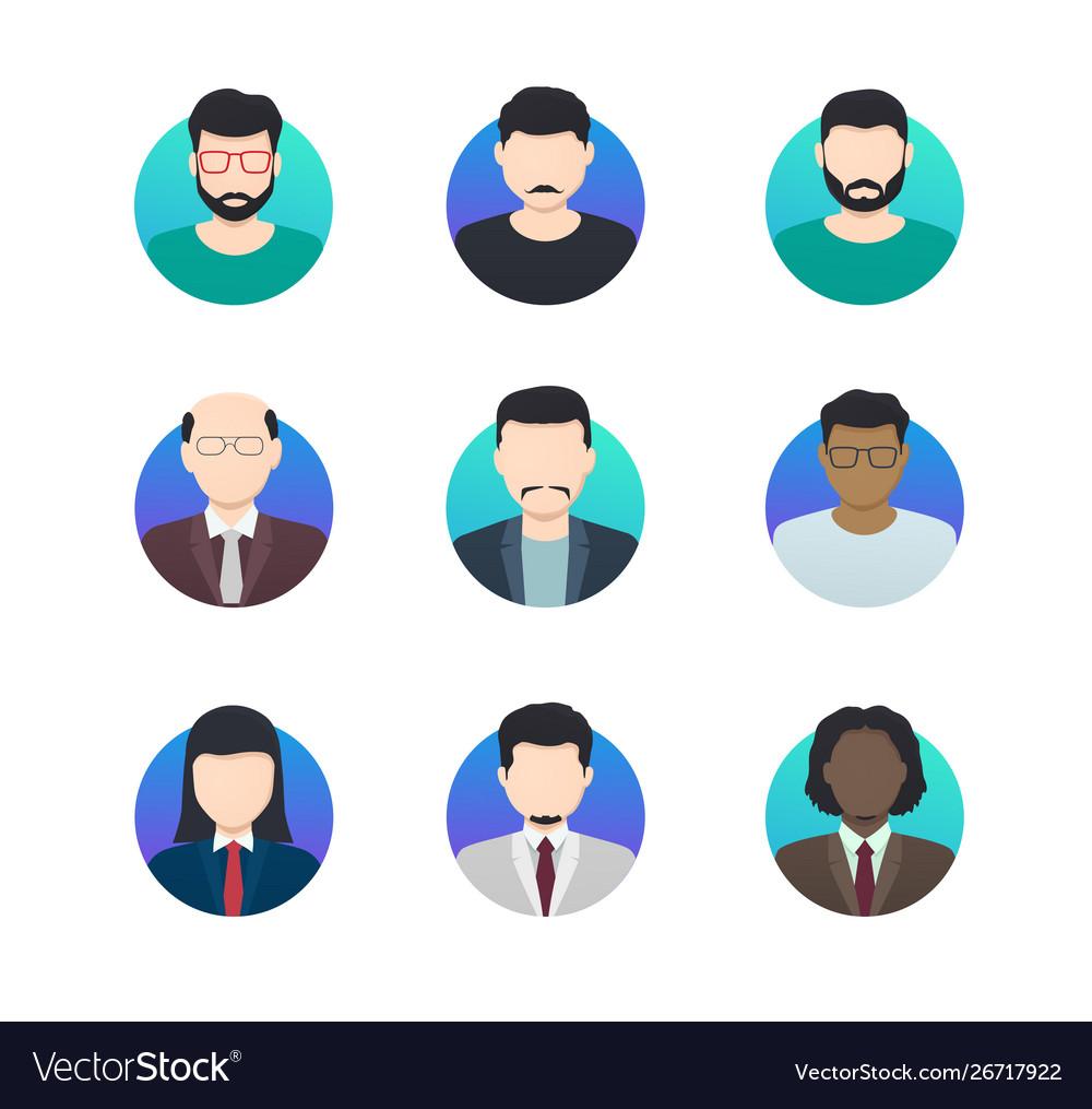 Avatar profiles minimalistic icons anonymous