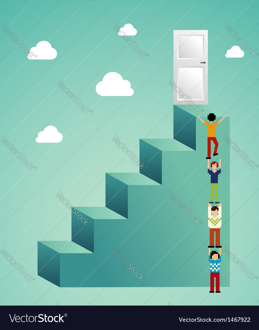 Cloud computing expansion vector image