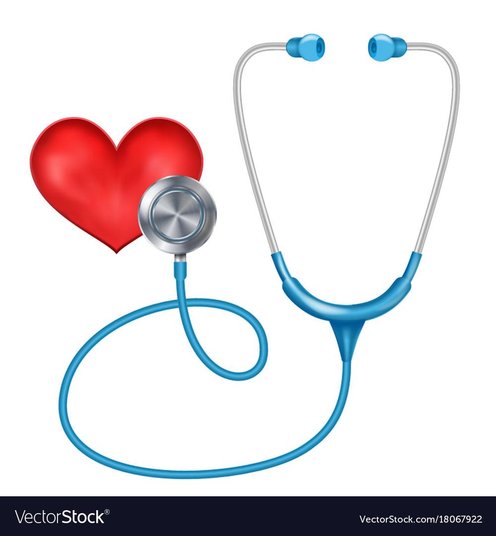 Medical phonendoscope isolated medical