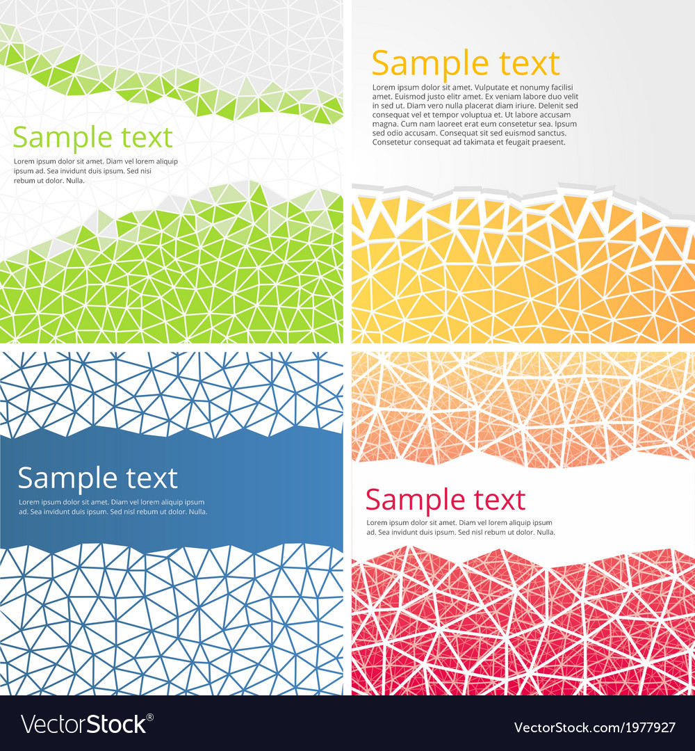 Abstract backgrounds with triangles