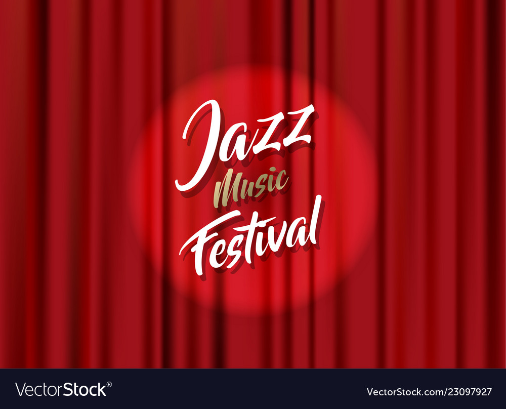 Abstract jazz music festival advertising poster
