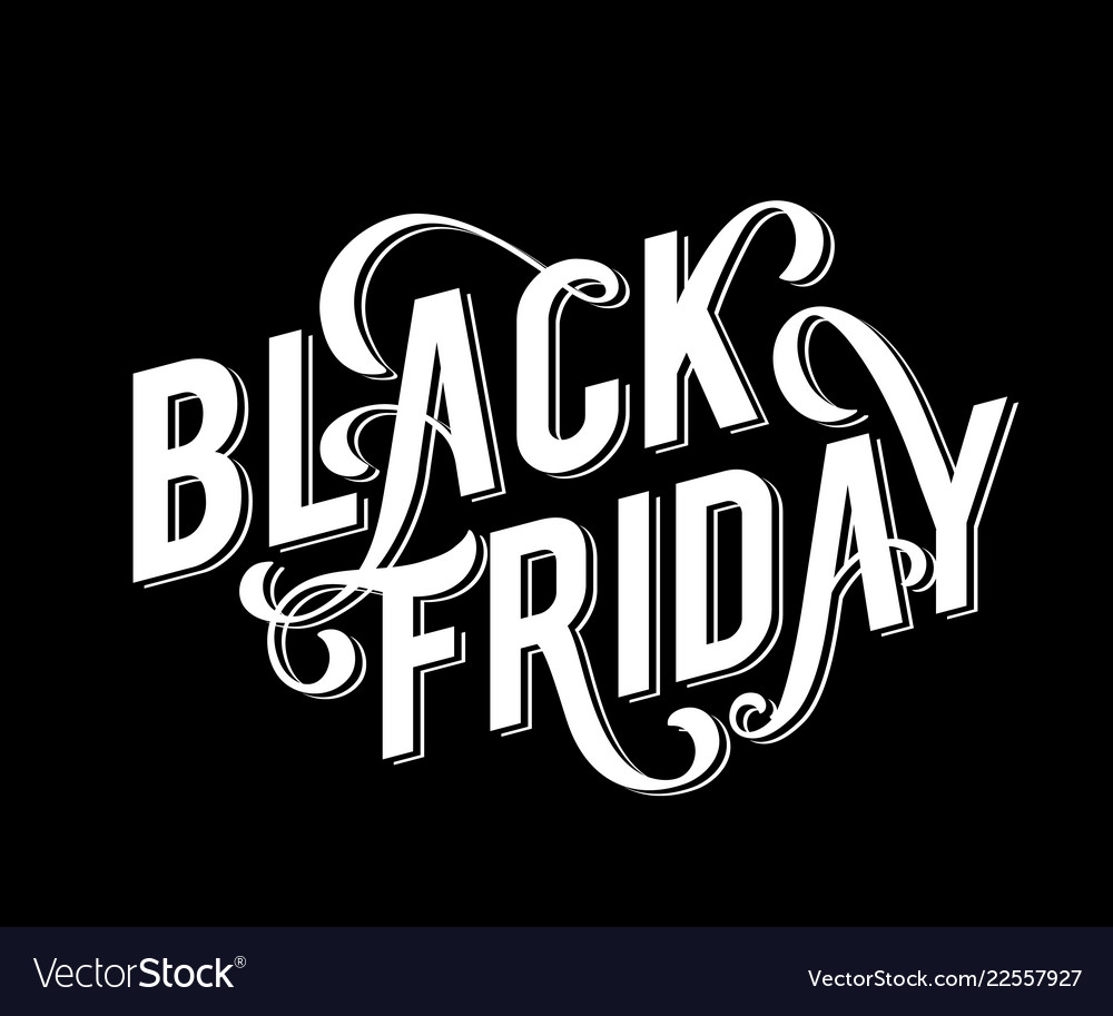 Black friday sale poster with handdrawn lettering