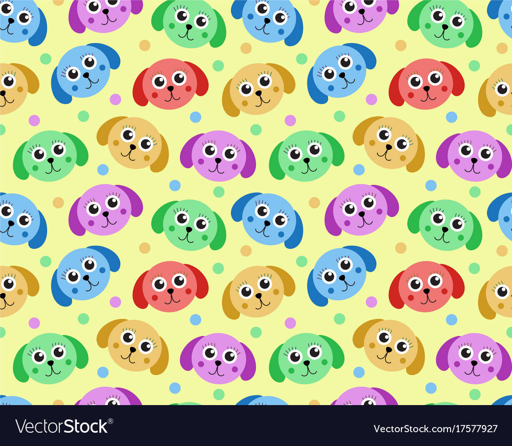 Cute puppy seamless pattern dog repetitive