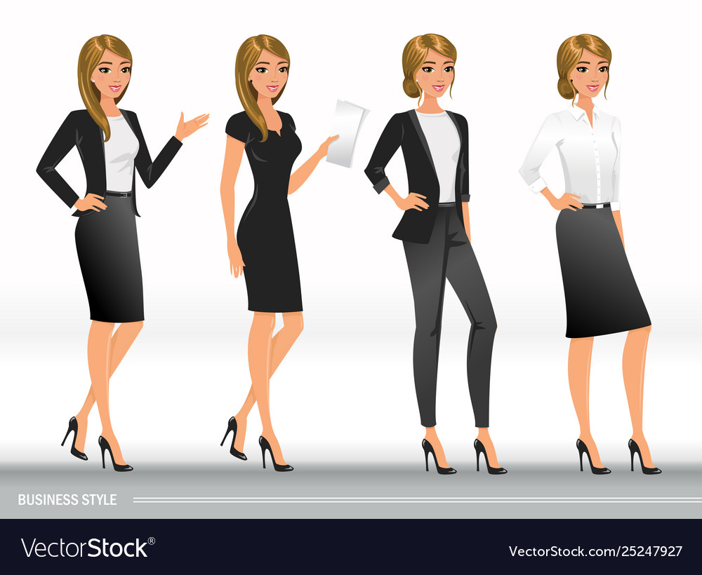 What does a business woman look like