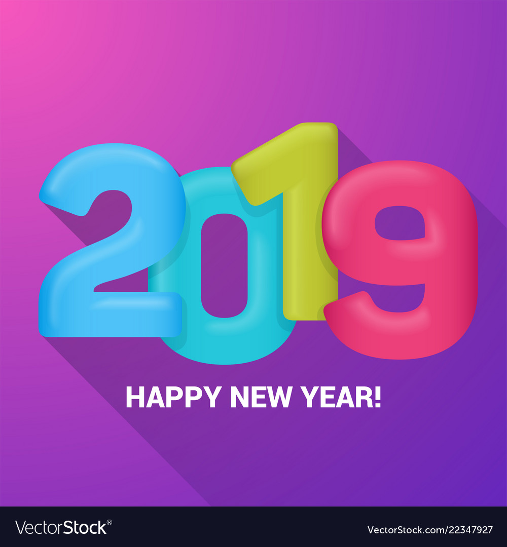 Happy New Year Greetings Card Royalty Free Vector Image
