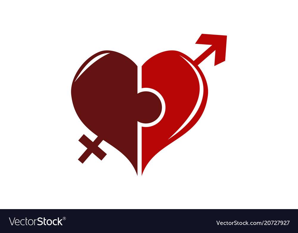 Heart puzzle union