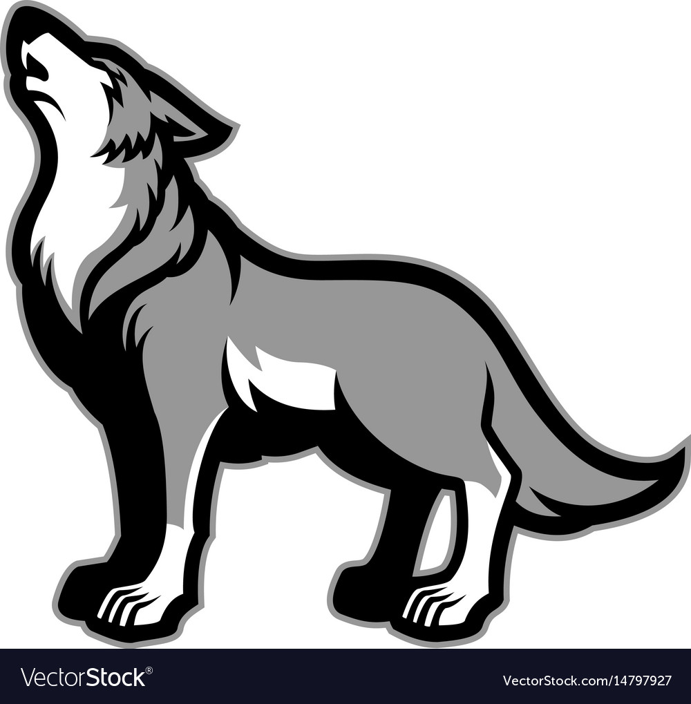 howling wolf royalty free vector image vectorstock rh vectorstock com wolf vector png wolf vector tattoo