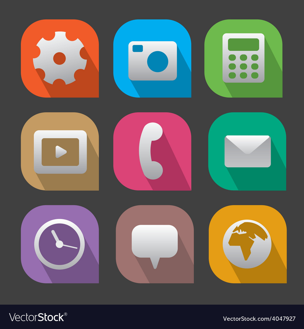 Interface icons flat