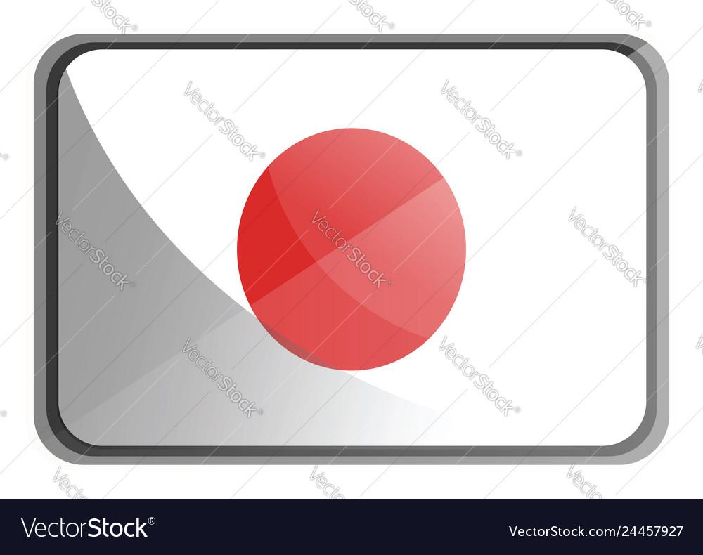 Japan flag on white background