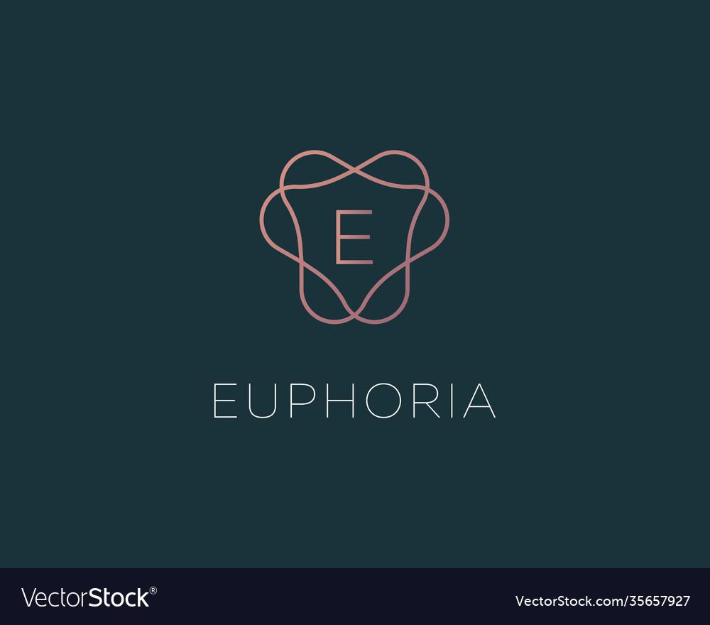 Letter e logo monogram minimal style identity
