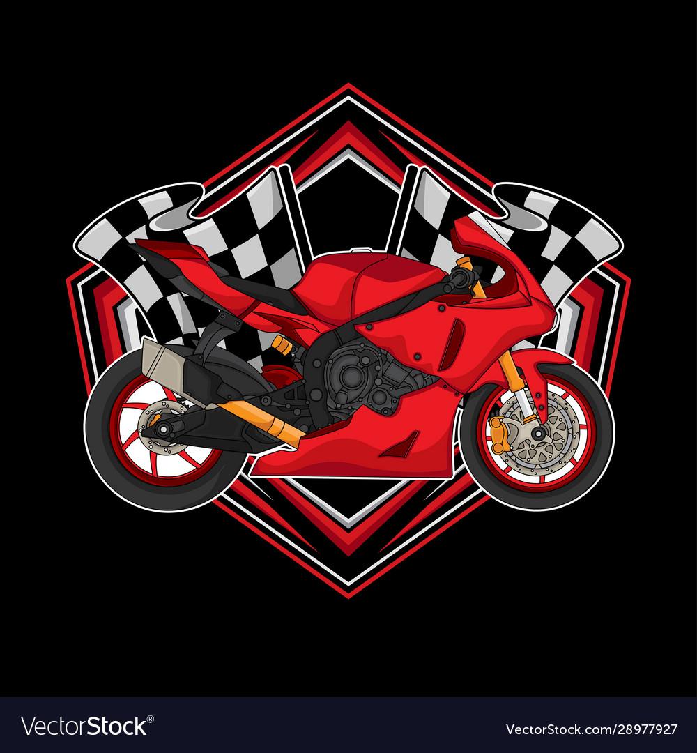 Motorcycle racing logo