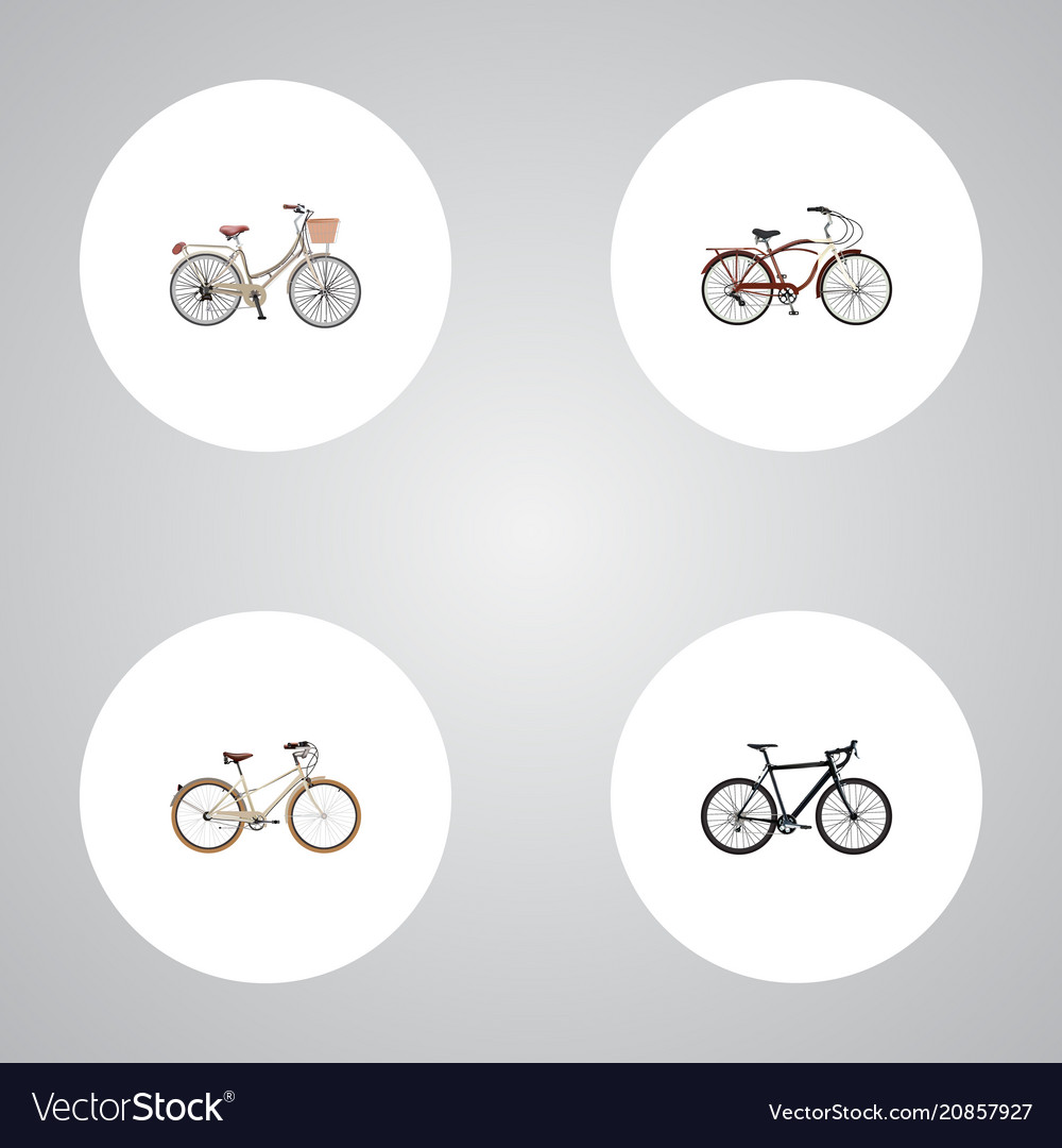 3c9c89e5aa Set of realistic symbols with vintage exercis Vector Image