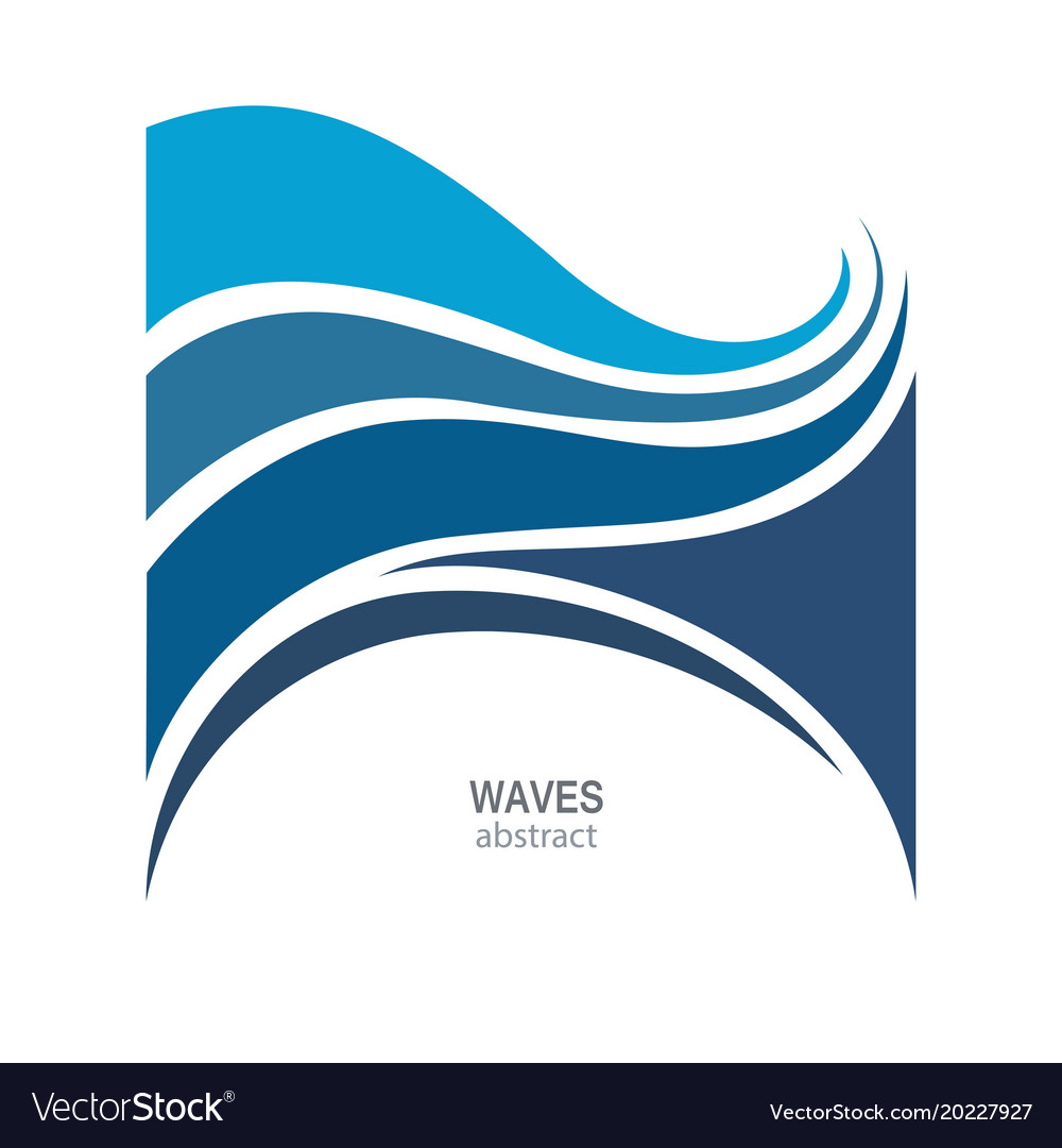 Water wave logo abstract design cosmetics surf