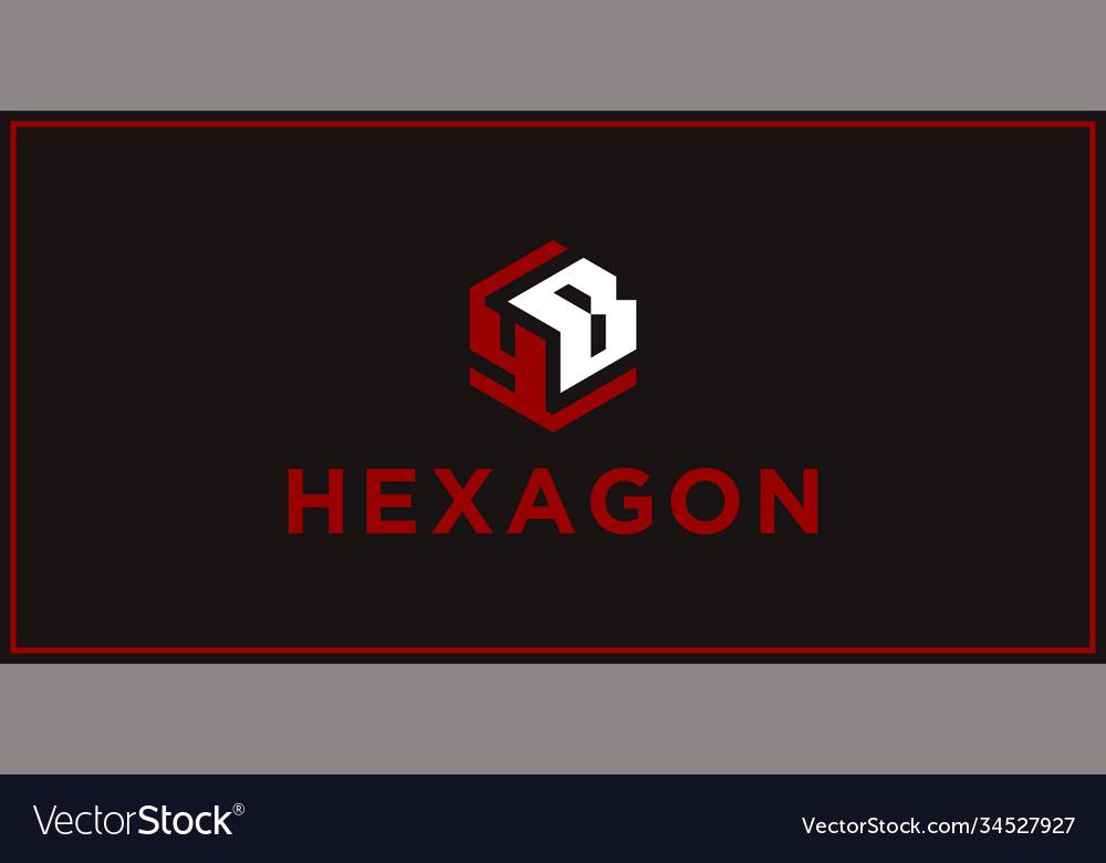 Yb hexagon logo design inspiration
