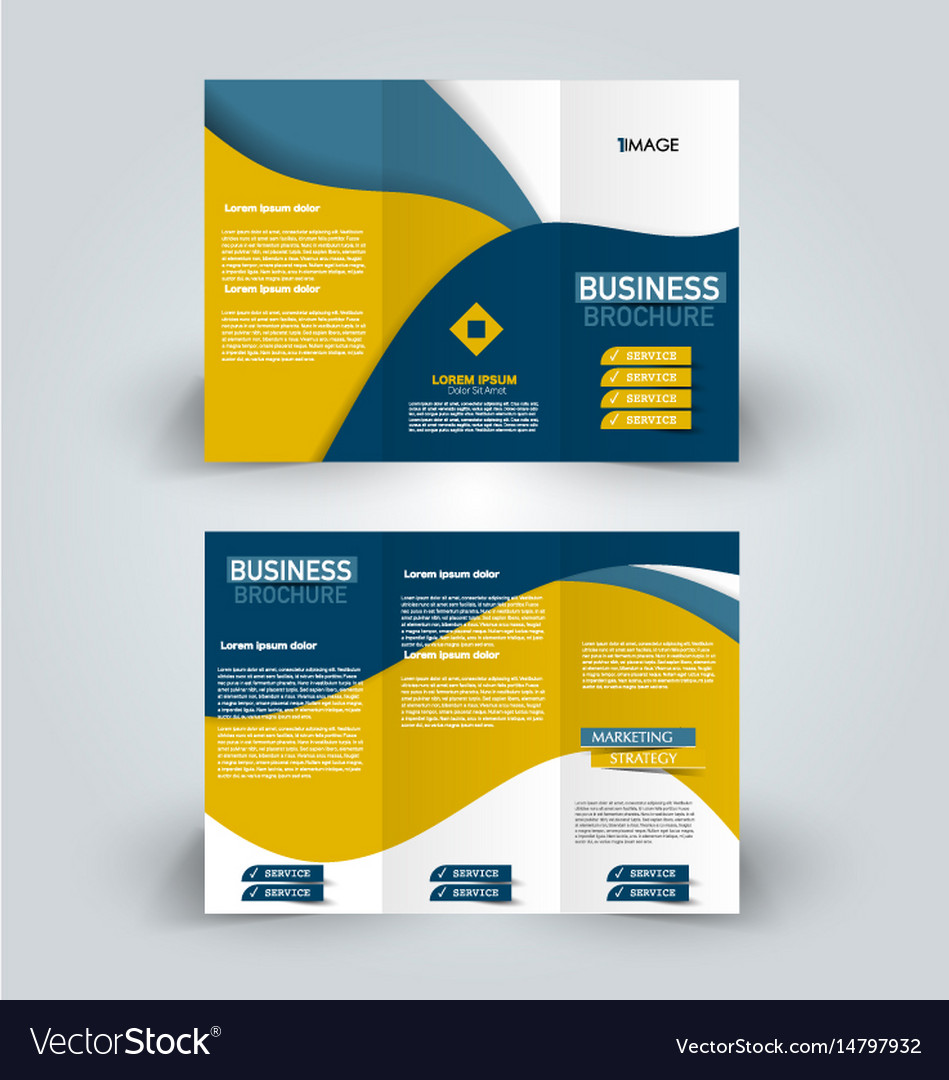 trifold brochure mock up
