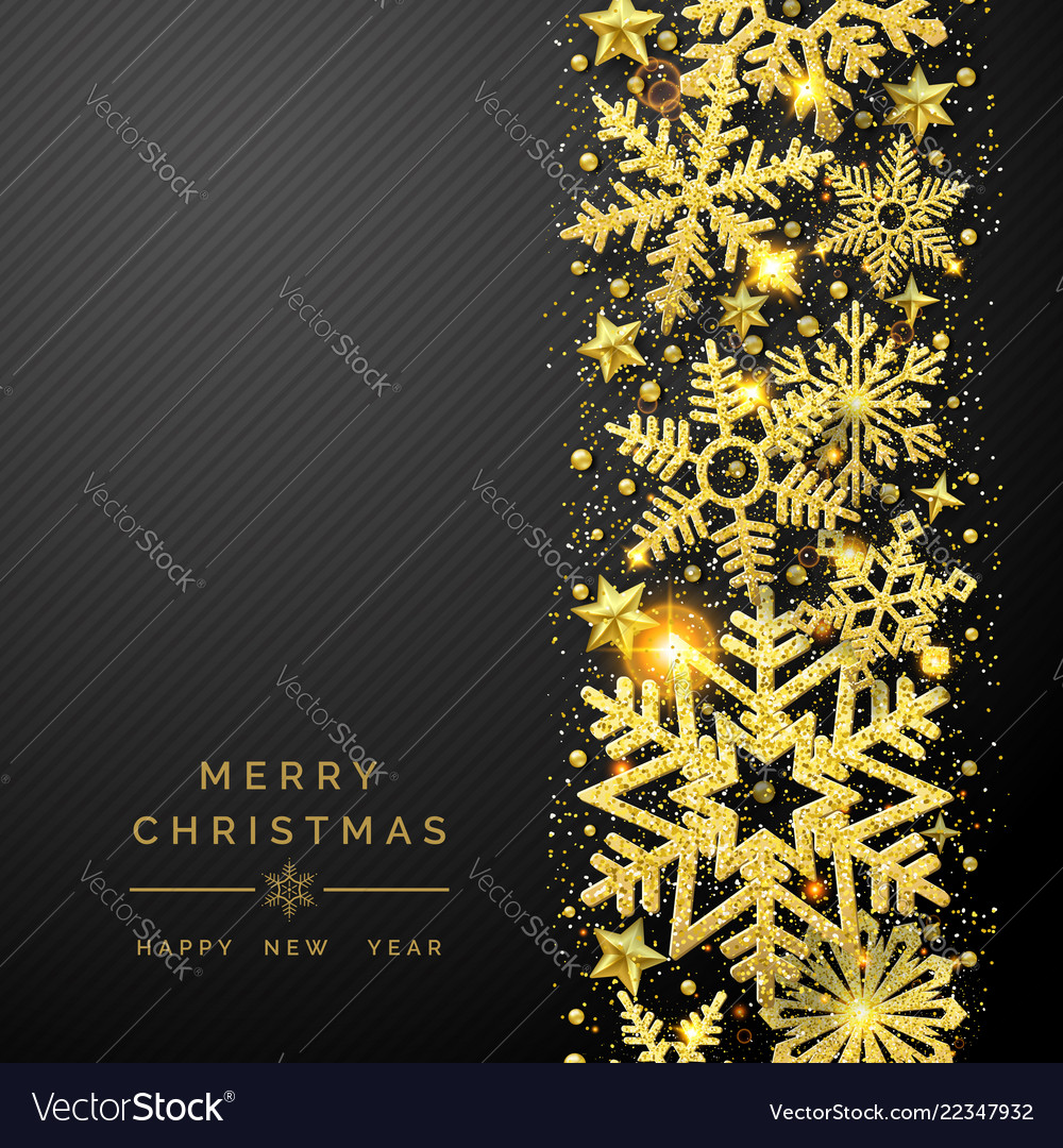 Christmas background with shining golden