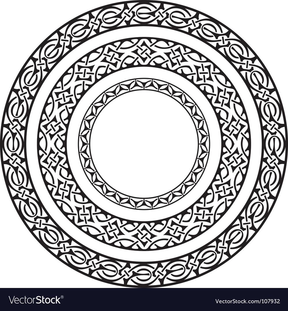 Circle frames Royalty Free Vector Image - VectorStock