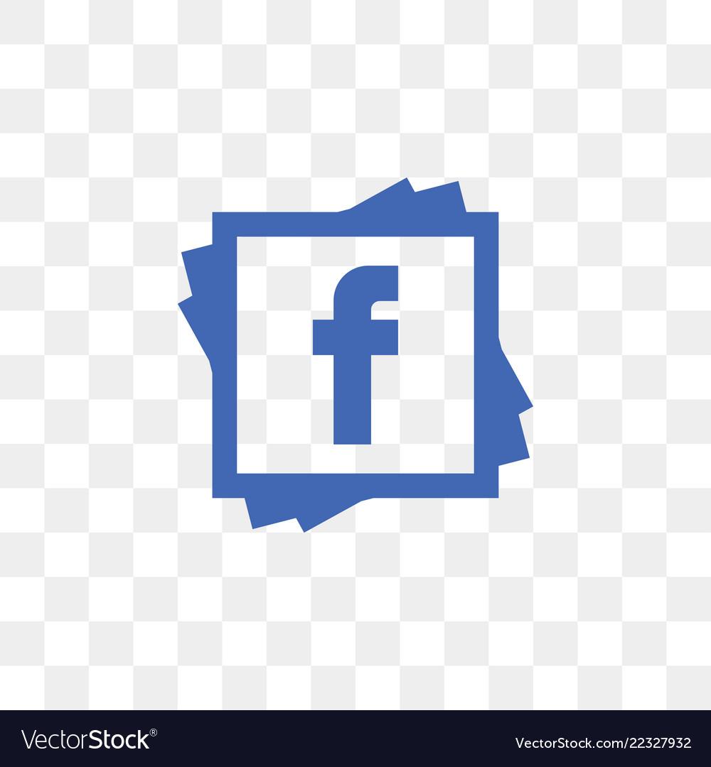 facebook social media icon design template vector image
