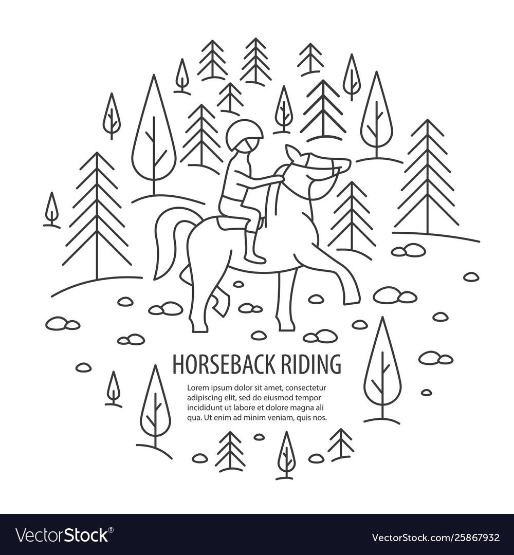 Horseback riding tour template
