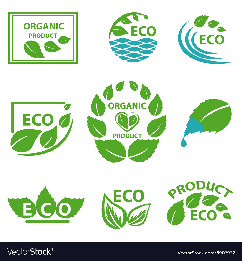 Organic products leaflet water logo