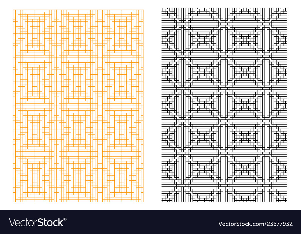 Seamless grid line pattern in korean style