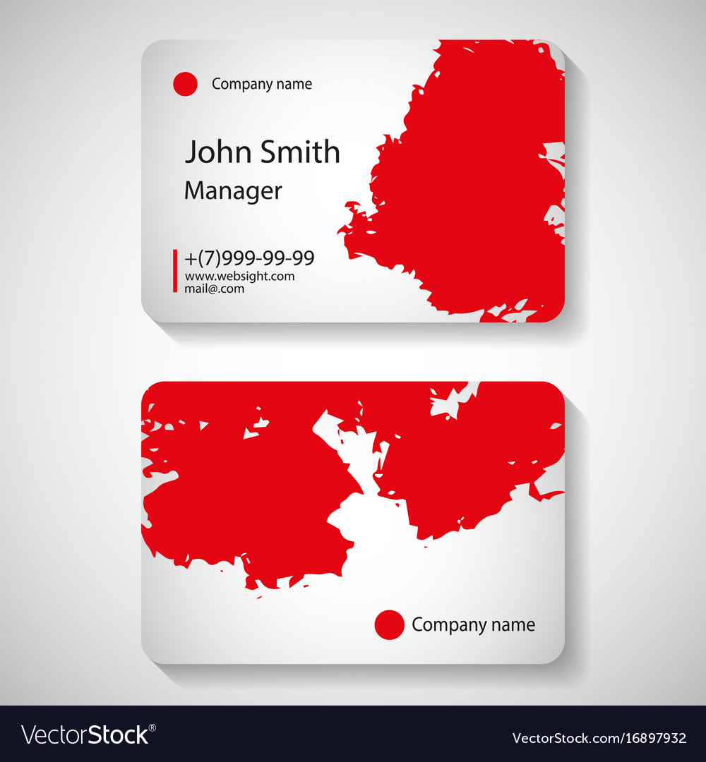 Stylish red business card template