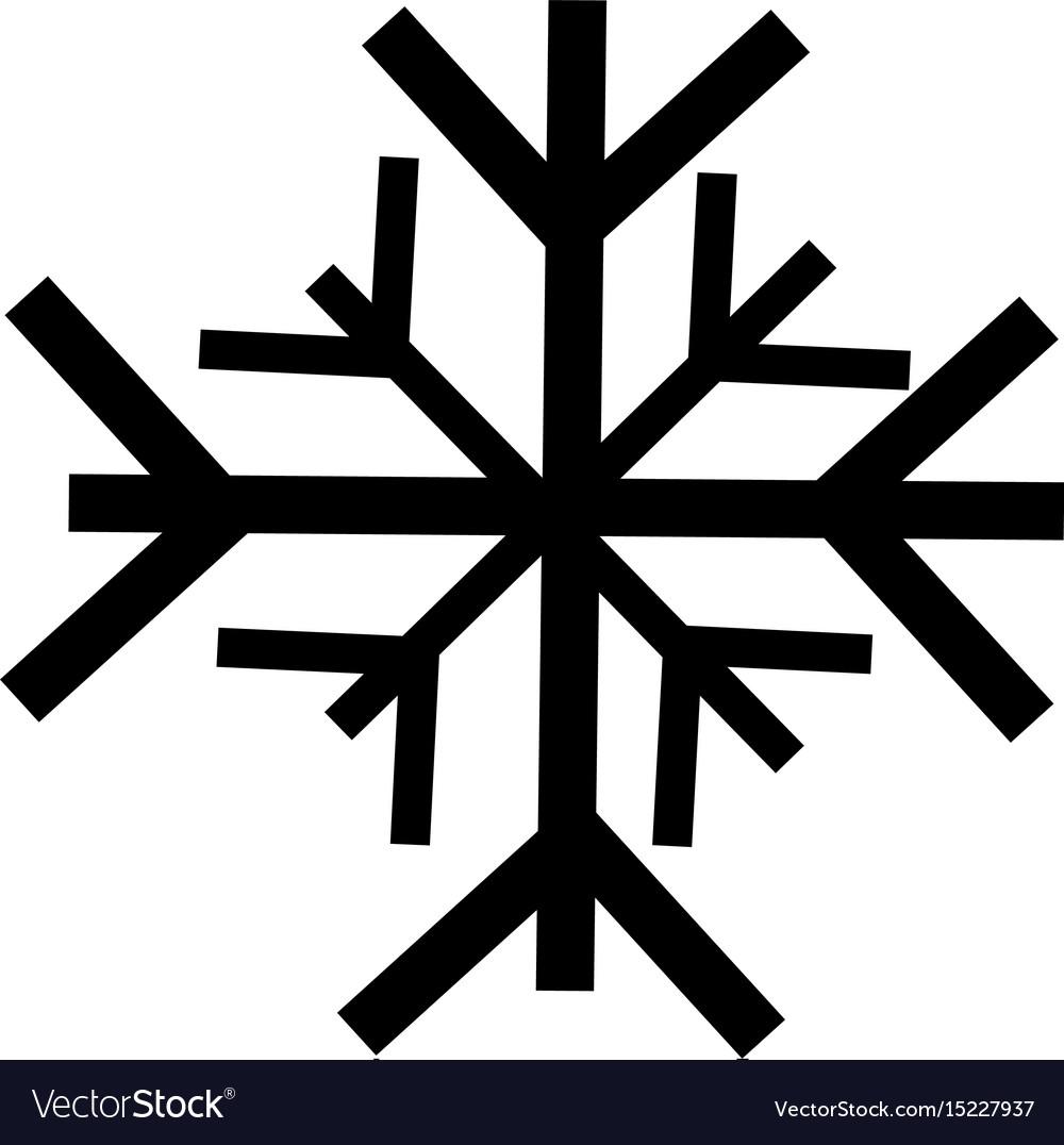 Black icon snowflake cartoon