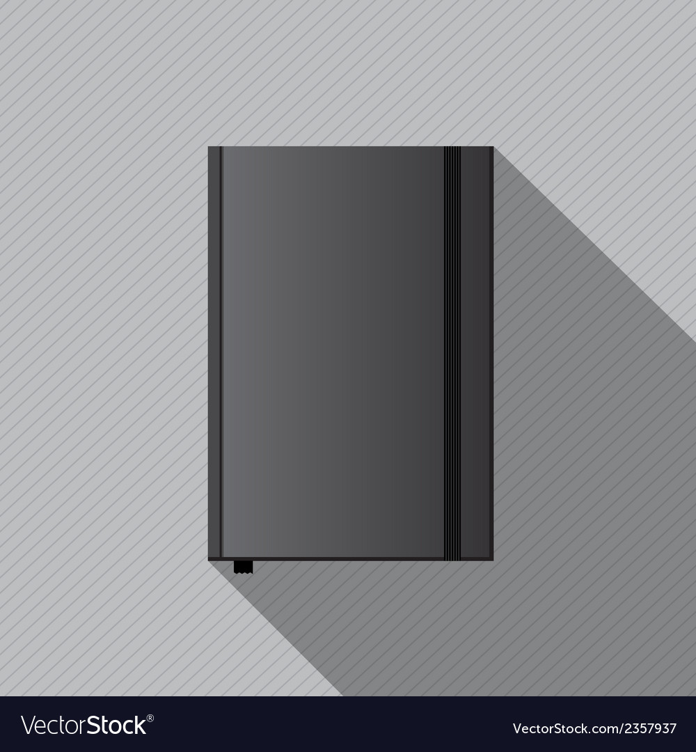 Blank Notebook Cover Template Royalty Free Vector Image