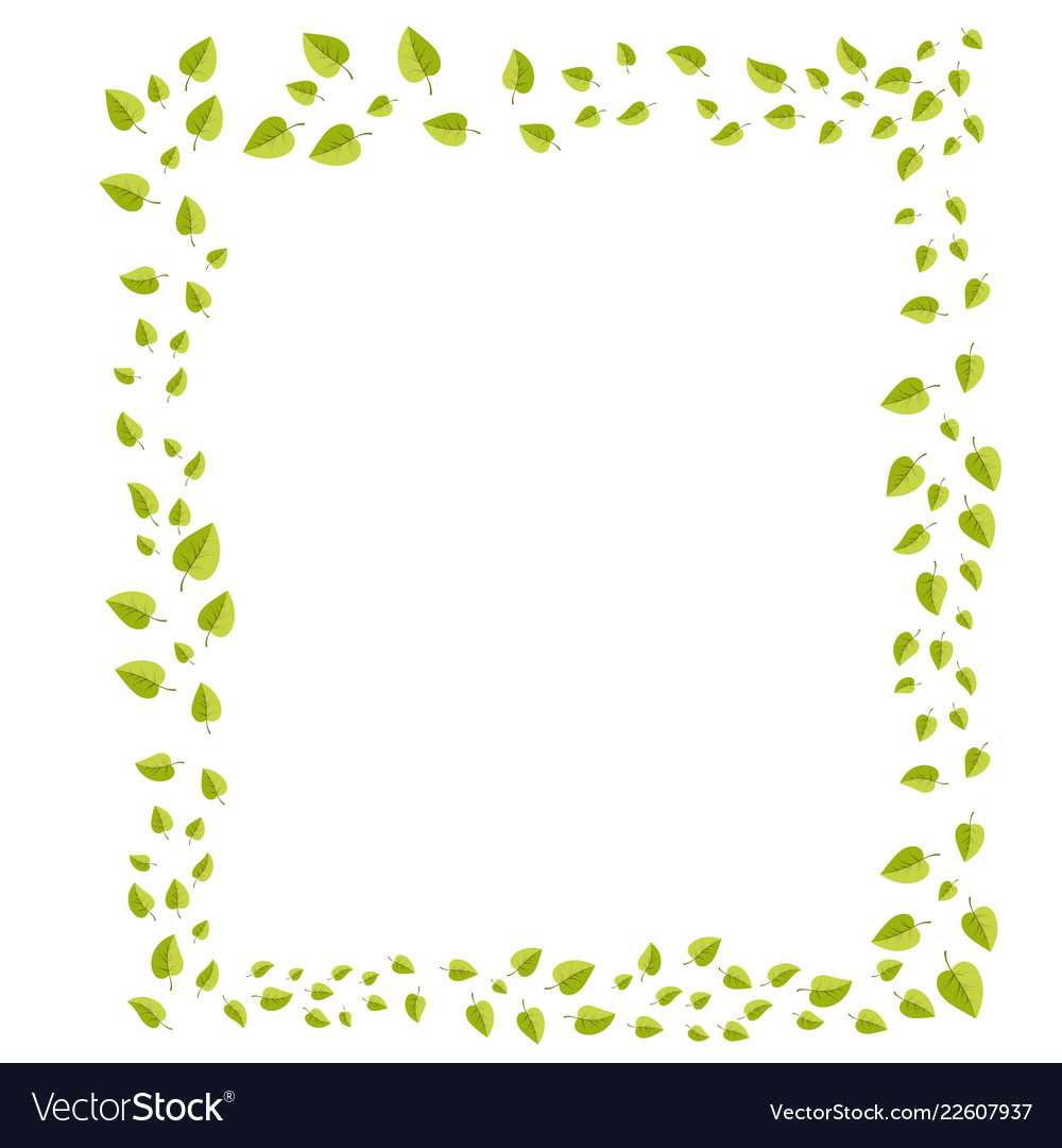 Leafs Frame For Decoration For Web And Print Vector Image