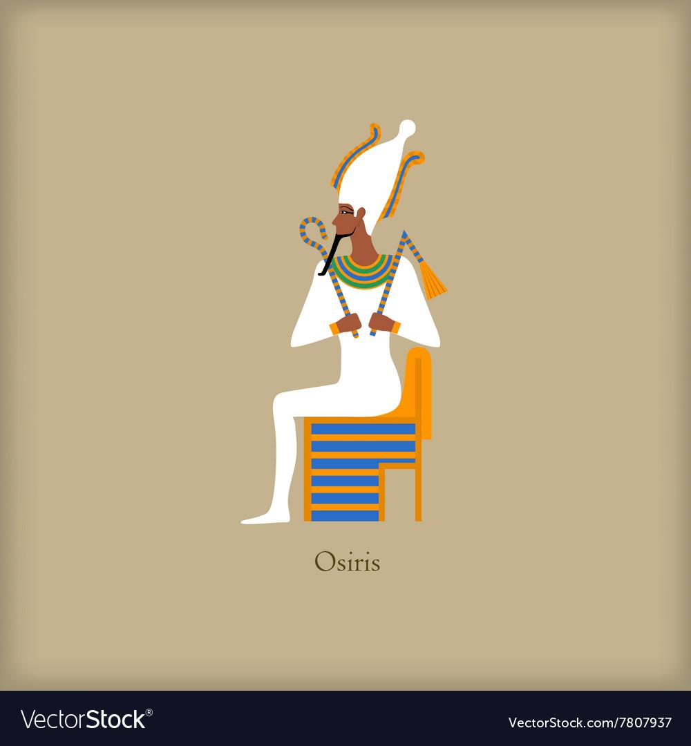 Osiris - God of the underworld icon flat style