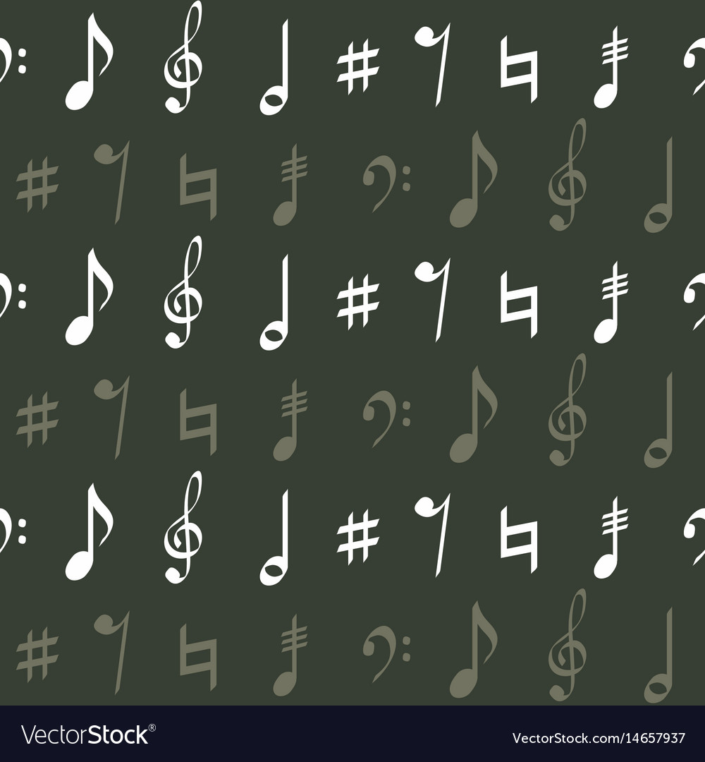 Seamless pattern with musical symbols
