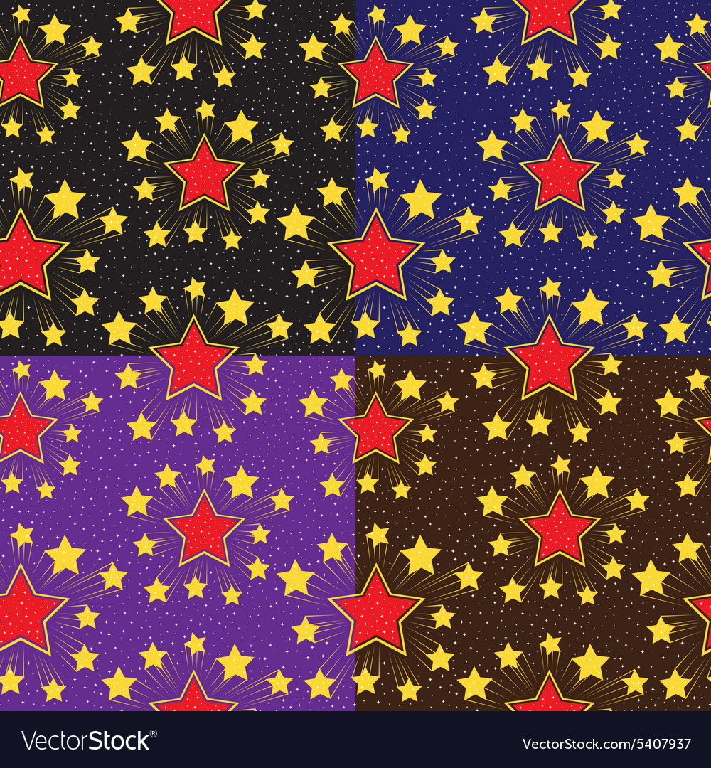 Seamless pattern with stars Set backgrounds