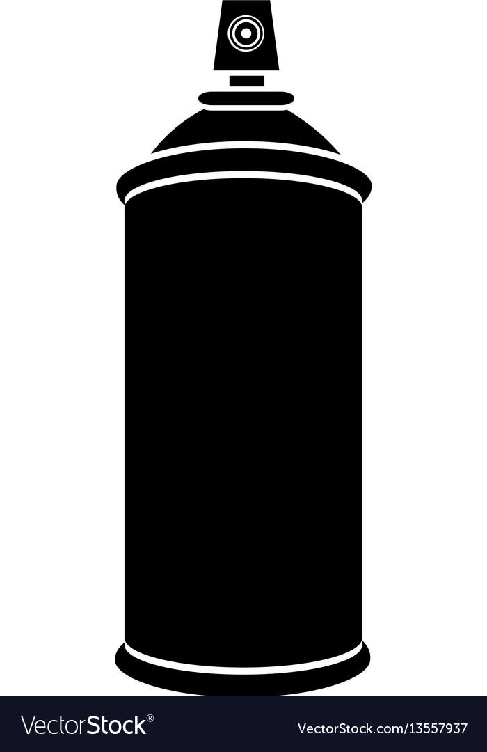 silhouette aerosol spray bottle can icon vector image rh vectorstock com spray can splash vector spray paint can vector free